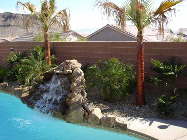 Rock Fountain into pool