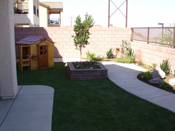 Flowerbed and Yard